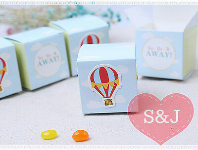 20x Baby Shower Birthday Party Boys/Girls Blue Balloon Favour/Bomboniere Boxes