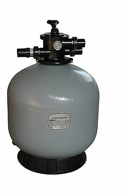 "16"" Swimming Pool Sand Filter - 16 Inch Pool Filter Fiberglass Fibreglass New"