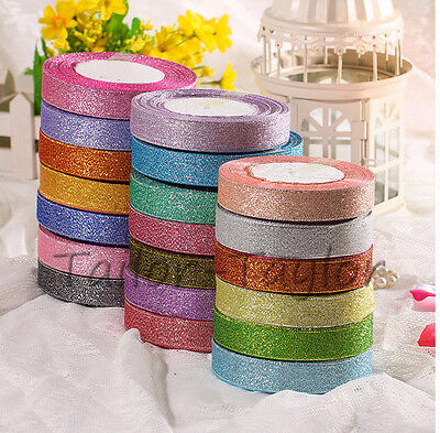 22Meter/Roll Berisford Metallic Lame Ribbon Sparkly Glitter Craft Christmas 20mm