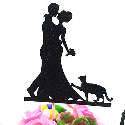 2 Pcs Wedding Cake Topper Plug Cake Inserted Card Decorations Party Accessories