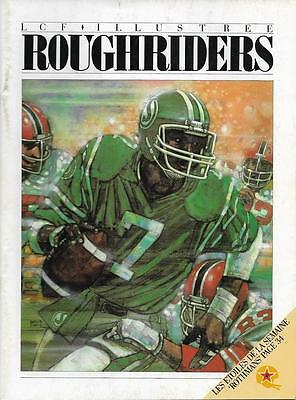 Montreal Concordes - Saskatchewan Roughriders 1983 CFL Program #7 Joe Adams