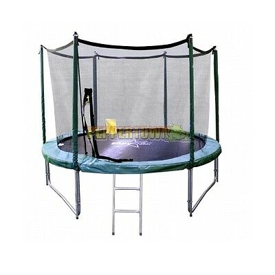 12ft Trampoline Playstar Bonus Free Ladder Safety Net Anchors Backyard Round