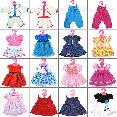 "Fashion Floral Dress 17-Color Doll Clothing Costume For 18"" American Tackle Kid"