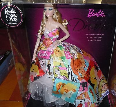 50TH YEAR ANNIVERSARY ~Generation of Dreams 2008 Barbie Doll ~NEW IN BOX
