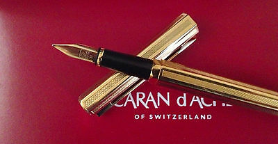 Caran D´ache Gold Fountain Pen / M