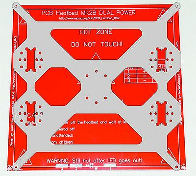 Prusa i3 4B Aluminium composit Heated Bed Support, Y carriage Plate 6mm Reprap