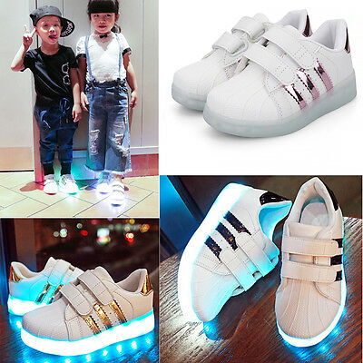 LED Light Up Shoes Trainers Luminous Sneakers Children Kids Baby Boys Girls Shoe