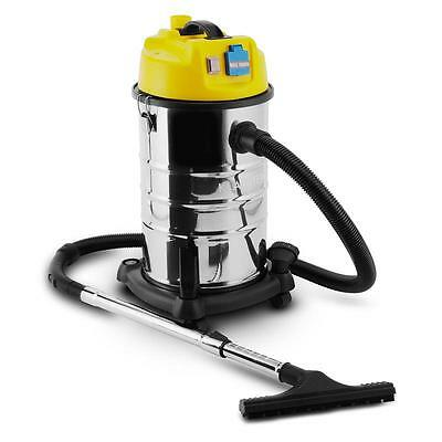 Klarstein 30L Wet Dry Vacuum Cleaner Industrial Shop Vac 1800W Stainless Steel