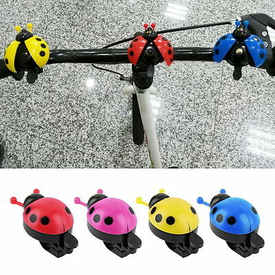 Lovely Kid Beetle Ladybug Ring Bell For Cycling Bicycle Bike Ride Horn Alarm AI
