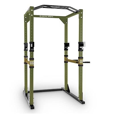 Capital Sports Home Gym Power Rack Station Steel Green Brown Multi Workout Body