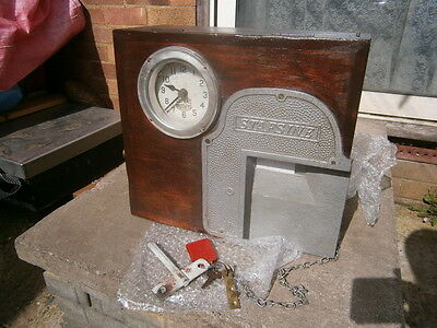 Antique Industrial Siemens Brothers  Time Recorder Clock In Machine - Art Deco