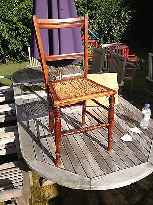 Antique Chair - Decorative Wicker-seat Chair