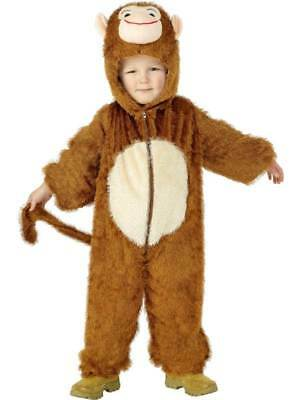 Age 4-9 Kids Cheeky Monkey Outfit Childrens Fancy Dress Costume Book Week Boys