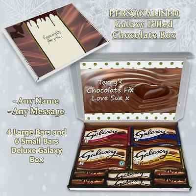 Chocolate Fix Personalised Galaxy Large Selection Box Gift Hamper Any Occasion