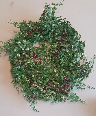 Christmas Glitter holly and berries wreath 45.7cm