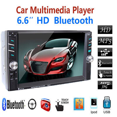 "2DIN 6.5"" HD In Dash Car TouchScreen Bluetooth Stereo MP3 MP5 Multimedia Player"