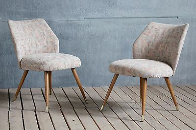 Vintage Retro MidCentury East German Cocktail Easy Lounge Chairs Hairpin Legs • £175.00