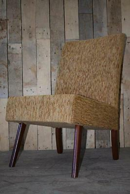 Vintage Retro Mid Century Upholstered Cocktail Bedroom Chair - Upcycle?