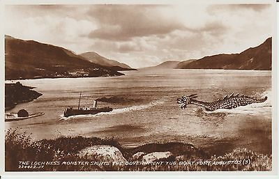 Inverness-Shire -Fort Augustus  Loch Ness Monster - Real Photo  Postcard