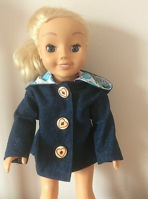 "Dolls Clothes Handmade Denim Coat For Cayla Or 18"" Doll"