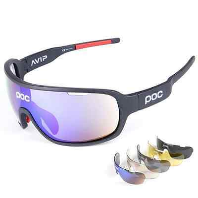 Polarized outdoor Goggles 5 Lens SunGlasses POC-Style Eyewear With RX Insert