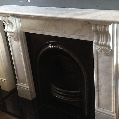 Victorian Style Carrara Marble Fire Surround With Cast Insert
