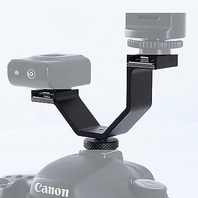 Mounting Accessorry Double Cold Shoe Adapter DHA for Canon Nikon Olympus Camera