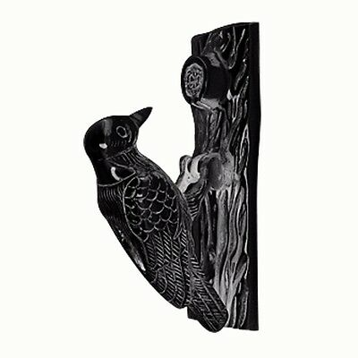 Door Knocker Black Cast Iron Woodpecker 6 1/2H 2 W | Renovators Supply