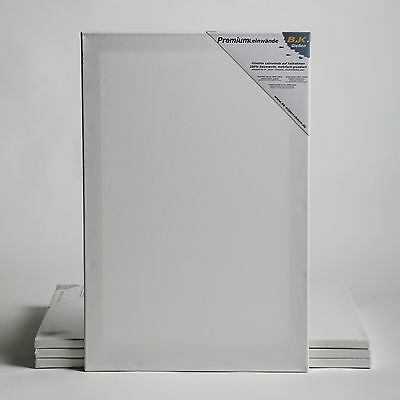 "4 PREMIUM STRETCHED BLANK CANVASES | ~24x31""60x80cm 