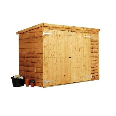 Wooden Bike Store Shed Storage Garden Pent Waney 3'x6' FLOOR/BASE NOT INCLUDED