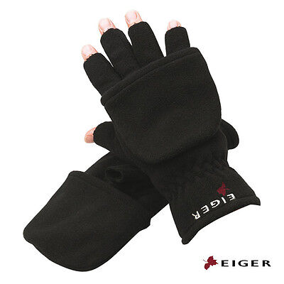 Eiger Knitted Gloves Thinsulate Black Size M L XL Winter Boat Fishing 14518