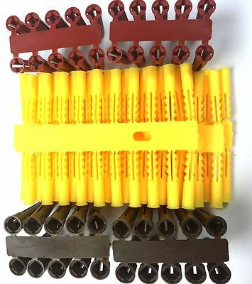 300 x Assorted Wall Plugs Heavy Duty Raw Rawl Fixings red yellow & brown