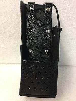 Bee 5151B-150/350 Leather swivel holster for select Harris two-way radios