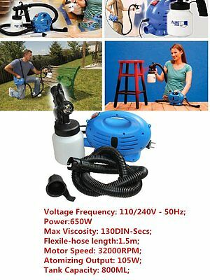 650w New Zoom Spray Gun System Electric Paint Sprayer Painting for Fence Bricks