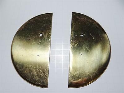Vintage Brass Half Moon Backplates Signed & Numbered Door Hardware