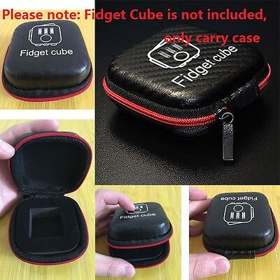 Xmas Gift for Fidget Cube Anxiety Stress Relief Focus Dice Bag Carry Case Packet