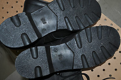 US Army JUNGLE BOOTS All Leather Men's 9 Wide Black Mildew & Water Resistant NEW