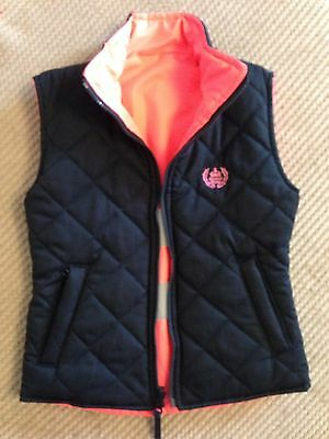 7-8 Years Reversible Hi Visibility Pink Riding Body Warmer