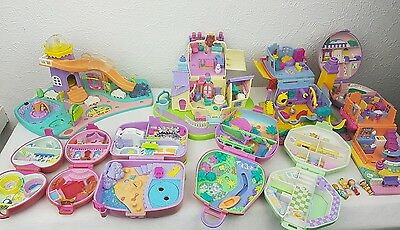 polly pocket bundle 10 × Mix Cases , Compacts . Houses