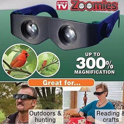 New Zoomies As Seen On TV Hands Free Binoculars Hands Free Zoom with package