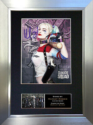 SUICIDE SQUAD Harley Quinn Signed Autograph Mounted Photo Repro A4 Print 618