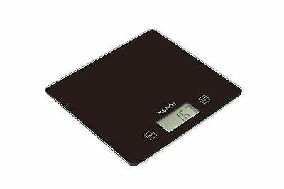 Hanson Electronic Digital Slim Glass Kitchen Scales White Red or Black H1040
