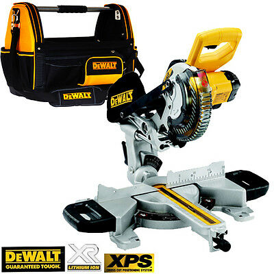 DeWalt DCS365N 18V XR Cordless  XPS  Saw 184mm Body Only With 1-79-208 Tote Bag