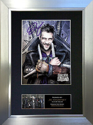 SUICIDE SQUAD Boomerang Jai Court Signed Autograph Mounted Photo Repro Print 622