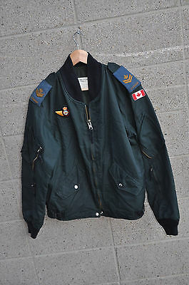 Canadian Air Force Intermediate Flying Jacket Bomber Jacket Dark Green 7040 M