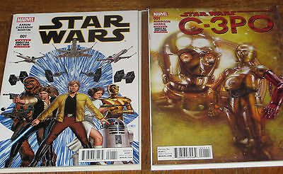 STAR WARS #1 + C-3PO #1 Special - 1st Print COMICS - Marvel  NEW Bag & Boarded