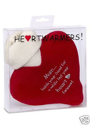 Heart Shaped Mini Hot Water Bottle in Knitted Cover