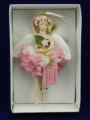 "Show Stoppers 7"" Twinkle Toes Angel/Ballerina/Fairy Porcelain Collectible Doll"