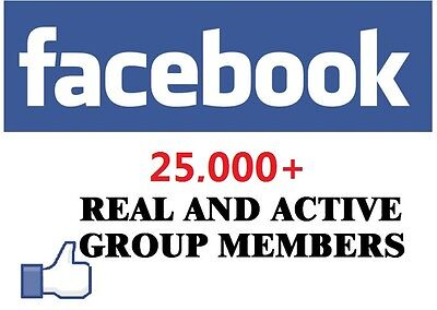 Add 25,000 Members to your Group - Social media marketing Get Your Site Noticed