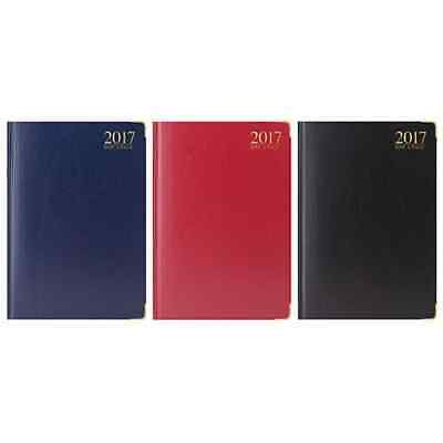 A4 2017 DIARY GOLD CORNER PADDED CORNERS DAY A PAGE Assorted Colour